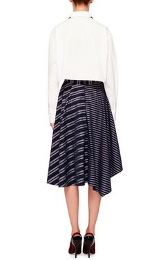 Striped Oliver Skirt  by TANYA TAYLOR Now Available on Moda Operandi