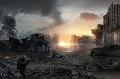 Find the best Post Apocalypse Wallpaper on GetWallpapers. We have background pictures for you! Sf Wallpaper, Wallpaper Backgrounds, Desktop Wallpapers, Mobile Wallpaper, Post Apocalypse, Empire Total War, Post Apocalyptic City, Cthulhu, Multimedia Artist