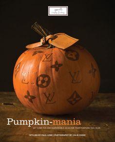 Louis Vuitton inspired pumpkin<---- Corny lol