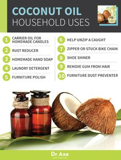 Coconut Oil Household Uses http://www.draxe.com #health #Holistic #natural
