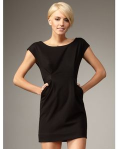 2012 Style Sheath / Column Scoop Sleeveless Short / Mini Satin Little Dresses (SZ021118 )