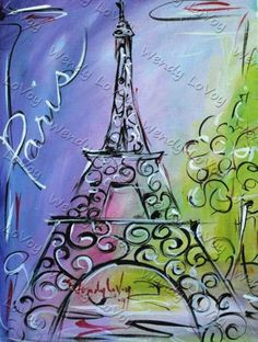Paris canvas would look cute on a plate