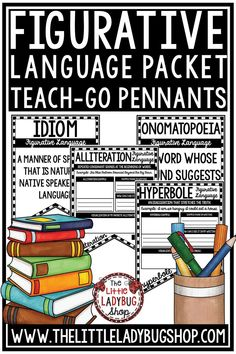 You will love this Figurative Language Activities Teach-Go Pennants and Posters for your 3rd Grade, 4th Grade, 5th Grade students. This is perfect for assisting in teaching this skill to your students in a fun and interactive way! These figurative language activities are great for your third grade, fourth grade and home school classrooms #figurativelanguageactivities #figurativelanguage