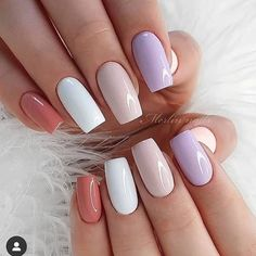 Acrylic Nails Coffin Short, Simple Acrylic Nails, Square Acrylic Nails, Summer Acrylic Nails, Best Acrylic Nails, Spring Nails, Acrylic Nails Designs Short, Cute Summer Nails, Simple Nails