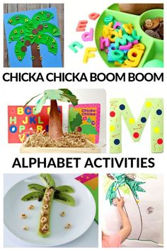Try these awesome Chicka Book Boom Boom activities after reading the classic story. All of these alphabet activities are hands-on and engaging perfect for building letter recognition. Pre K Activities, Alphabet Activities, Kindergarten Activities, Preschool Activities, Preschool Programs, Kindergarten Reading, Preschool Books, Toddler Preschool, Preschool Classroom