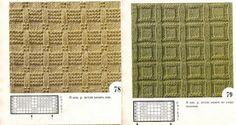 Рельефные узоры спицами: схемы с описанием