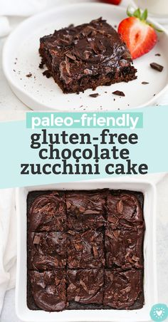 The BEST Gluten Free Chocolate Zucchini Cake. This gorgeous gluten free zucchini cake is made with almond flour and packed with chocolate flavor. It's rich and decadent and 100% naturally sweetened! You'll love the paleo chocolate frosting! // gluten free cake recipe // gluten free chocolate cake recipe // dairy free chocolate cake recipe // almond flour cake // #chocolate #zucchini #zucchinicake #chocolatecake #glutenfreecake #glutenfreechocolatecake #paleocake #almondflourcake