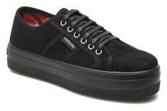 Zapatos con cordones Victoria Blucher Antelina Plataforma vista 3/4