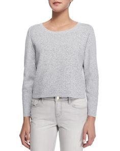 Alex Knit Pullover Sweater, White/Black - J Brand Ready to Wear