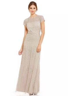 057e50268625 NWT $420 Adrianna Papell Berkeley Gown Pink Embellished Beaded Wedding  Formal Mob Dresses, Dresses For