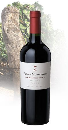 Malbec, Fabre Montmayou Gran Reserve, Argentina - licorice, black fruit, sweet-vanilla oak. Pairs well with: red meats, games, rich cheeses and chocolate. #wine #redwine #malbec