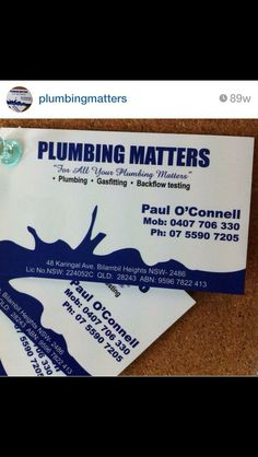 Plumbing matters