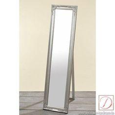 Standspiegel Spiegel silber Holz Glas H160cm - Setzten Sie mit diesem schönen Standspiegel einen klassischen Rahmen um seinen Betrachter. Eine Höhe von 160cm erzeugt eine geräumige Spiegelfläche
