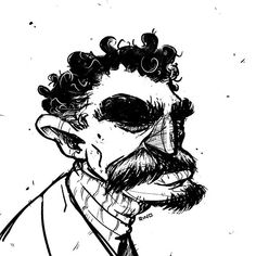 Mr. MacGrumper a pretty grumpy dude.  #sketch #sketchbook #art #characterdesign #beard #grumpy #procreateapp #eyebrows