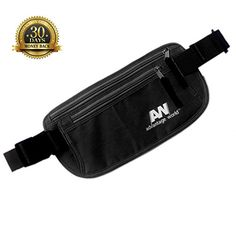 Travel Money Belt The Undercover Hidden Waist Stash in Black with RFID Sturdy and Secure * You can get additional details at the image link.