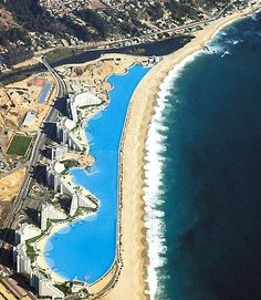 WORLDS LARGEST POOL - San Alfonso del Mar resort. The worlds largest pool covers 20 acres, holds 66 million gallons of water and has a 115 foot deep end. Who's up for a swim???