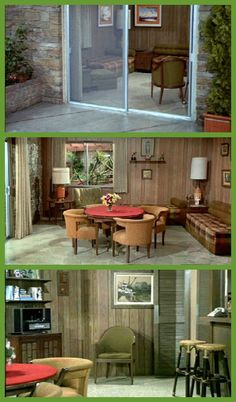 """The Brady Bunch family room - ahh the site of such fun AND fights!  Most of us didn't grow up in house with separate living and """"family"""" rooms but boy didn't it seem groovy to imagine having a room that was mainly for the kids!"""