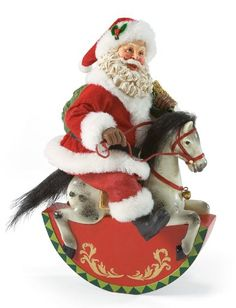 Gift Horse | Santa Claus Figurines and Hand Carved Wooden Santas