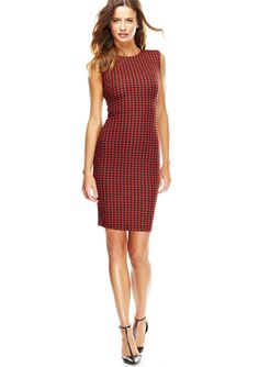 WOW COUTURE Houndstooth Print Sheath Dress