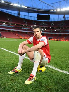 Robin van Persie    On the pitch after the match against Wolves