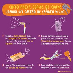 Como fazer a sua própria cópia da chave Survival Tips, Survival Skills, What Is Your Sign, Take Care Of Your Body, Study Notes, Cleaning Solutions, Clean House, Good To Know, Helpful Hints
