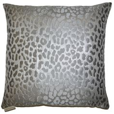 This contemporary metallic pillow will help update your home. It is an eye catching cheetah pattern that is both modern and exotic.