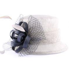 Chapeau Cérémonie Amarante Gris et Marine  #soldes #mode sur votre boutique Headwear @hatshowroom