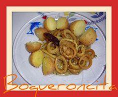 Calamares encebollados fussioncook Meat, Chicken, Cooking, Food, Recipes, Beef, Meal, Kochen, Essen