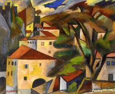 Landscape of Lot by André Lhote Hand-painted and Prints Art for sale,you can custom the size and frame