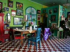 the color! - a cafe in Finland....