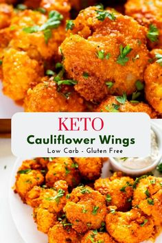 Keto cauliflower wings this low carb cheesy cabbage casserole is a one pan easy dinner ready in 30 minutes! the perfect easy keto dinner! Cauliflower Buffalo Wings, Keto Cauliflower, Healthy Cauliflower Recipes, Baked Cauliflower Wings, Cauliflower Side Dish, Healthy Corn, Paleo Recipes, Low Carb Recipes, Easy Recipes