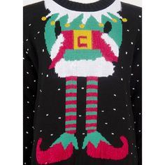 Ladies Celebrity Inspired Sam Inspired Elf Body Christmas Knitted Jumper UK Size Small To XL: Amazon.co.uk: Clothing