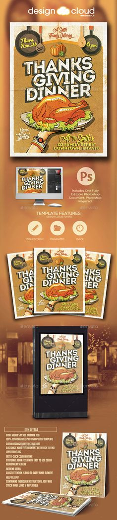 Food / Restaurant Flyer Template (Bundle 3 in 1) - Invitation Flyer Template