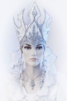 "The Snow Queen "" Ice Queen Costume, Costume Venitien, Snow Maiden, Snow Fairy, Ice Princess, Snow Queen, Tiaras And Crowns, Headgear, Headdress"