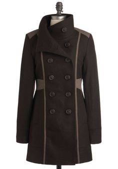 Anyone paying even a little attention will have noticed I have a small obsession with outerwear...  Know Your Tracks Coat, #ModCloth