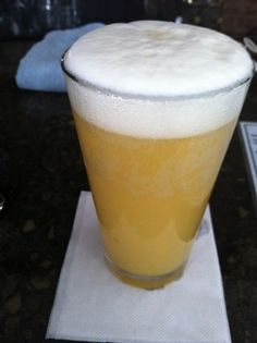 """Manmosa"" - Champagne, orange juice, and wheat beer (Blue Moon or something similar)"