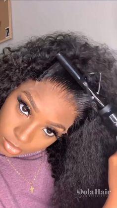 Black Girl Braided Hairstyles, Twist Braid Hairstyles, Wig Hairstyles, Big Curly Hair, Braids For Black Hair, Hair Ponytail Styles, Curly Hair Styles, Human Hair Lace Wigs, Lace Hair