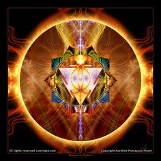 Original Mandala Manipura Chakra Solar Plexus Chakra by Pumayana, $60.00
