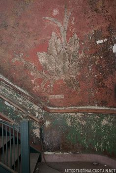 Abandoned Painting, National Theatre photo by Matt Lambros Fresco, Distressed Walls, Monuments, Marsala, Old Wall, National Theatre, Color Of The Year, Wabi Sabi, Abandoned Places