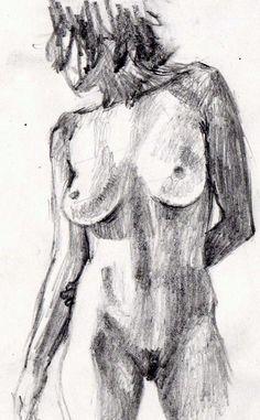 "Figure study graphite 2"" x 7 """