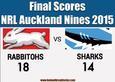 This was the final game at Eden Park for the NRL Auckland Nines Weekend Event 2015!   And what a game it was!