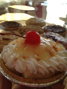 Mini Pina Colada Cream made with vanilla cream, flaked coconut and pineapple. Very tropical!
