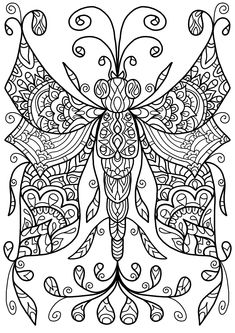 Free Colouring Page - Dragonfly Thing by WelshPixie.deviantart.com on @DeviantArt