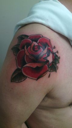 Rose traditional tattoo