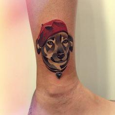 http://tattoo-ideas.us/wp-content/uploads/2014/03/Cubism-Dog-Tattoo-Probably-Done-By-Sasha-Unisex.jpg Cubism Dog Tattoo  #Animaltattoos, #Colourfultattoos, #Cutetattoos, #Legtattoos
