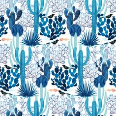 128100 Cacti from Moody Blues by Geninne for Cloud9 Fabrics