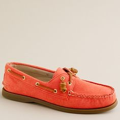 coral sperry's from j.crew