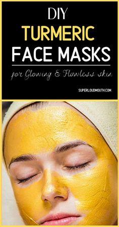 Diy Turmeric Face Mask, Diy Face Mask, Face Masks, Turmeric Face Pack, Turmeric Facial, Skin Care Routine For 20s, Face Routine, Face Skin Care, Facial Care