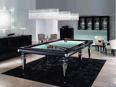 Modern Snooker Table.  playing tables, gaming room, interior design, home décor ideas, contemporary living room snooker tables, modern gaming rooms. For more inspirational ideas take a look at: www.homedecorideas.eu