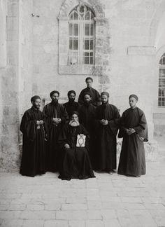Coptic monks, Jerusalem